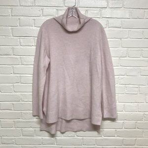 Pink Cashmere Banana Republic Turtleneck Sweater